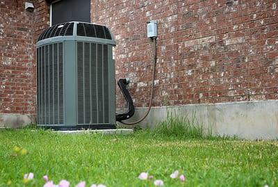 Modern AC heater unit outdoors