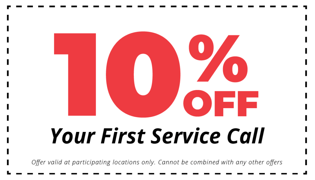 10% off first hvac service call coupon