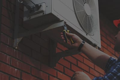 Repair on an outdoor mounted AC unit